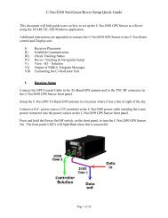 RT-3010S GPS Products User Guide - C-Nav World DGNSS