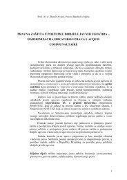 Pravna zaštita u postupku dodjele javnih ugovora - Pravni Fakultet