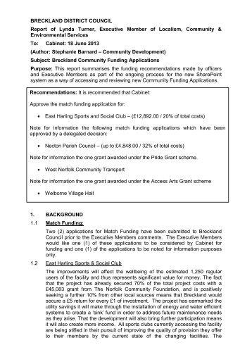 (Standing Item) (Agenda item 7) PDF 70 KB - Breckland Council