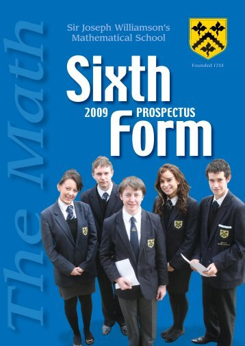 Math Sixth 08 full book - Sir Joseph Williamson's Mathematical School