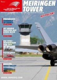 Programmheft - Jet World Masters 2013, Haslital, Schweiz