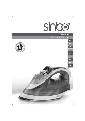 ssı 2851 ütü kullanma kılavuzu - Sinbo