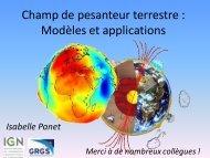 Gravimétrie spatiale: apports à l'étude du système Terre - SYRTE