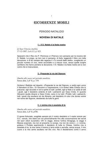 RICORRENZE MOBILI - Suore Serve dei Poveri del Beato Giacomo ...