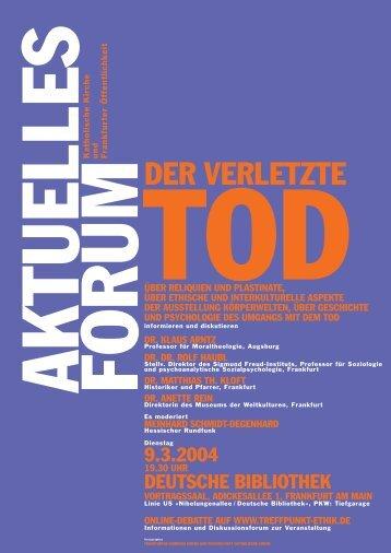 Aktuelles Forum: Der verletzte Tod (51,1 kB) - Treffpunkt-Ethik