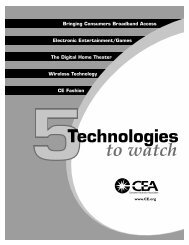 (5) Technologies to Watch - Consumer Electronics Association