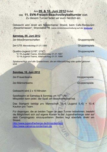 Ausschreibung 2012 - der NVV-Region Oldenburg