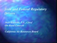 State and Federal Regulatory Drivers - Low Carbon Fuels ...