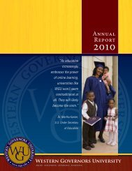 Annual Report - Western Governors University