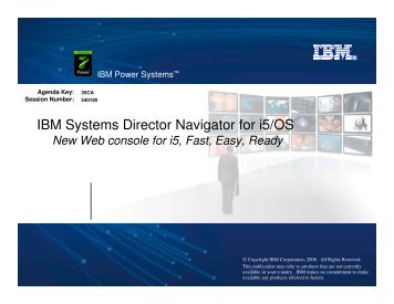 IBM Systems Director Navigator for i5/Os