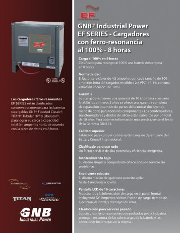 8 horas GB4125S - Exide Technologies