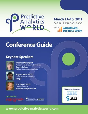 Conference Guide - Predictive Analytics World