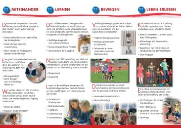 MITEINANDER LERNEN BEwEgEN LEBEN ERLEBEN - Laiblinschule