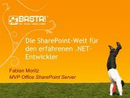 Erweiterte Einführung in die SharePoint Welt .pdf - ITaCS Blogs