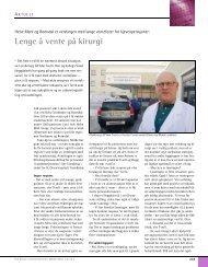 Lenge å vente på kirurgi - Den norske tannlegeforenings Tidende
