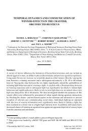 temporal dynamics & communication of winner-effects - Caspar Bgsu