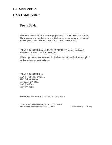ideal industries manual for craft test set 610 620 630 datacomtools rh yumpu com Ideal Industries Catalog Ideal Industries Catalog