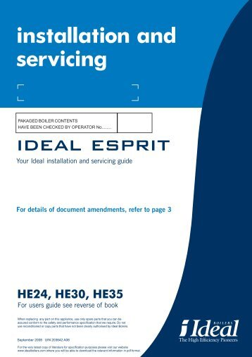 iDEAl EsPRit - Ideal Heating