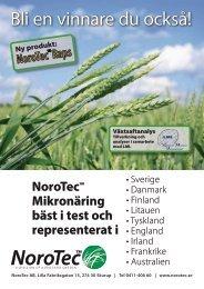 Produktblad, se bild höger (pdf) - NoroTec