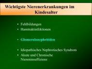 Glomerulonephritis im Kindes- und Jugendalter