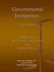 Governmental Immunities: - Minnesota County Attorneys Association