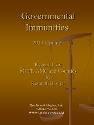 Governmental Immunities: - Minnesota County Attorneys Association