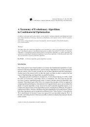 A Taxonomy of Evolutionary Algorithms in Combinatorial ... - gerad