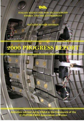 2000 PROGRESS REPORT - ENEA - Fusione