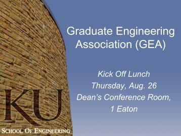 Graduate Engineering Association (GEA) - School of Engineering