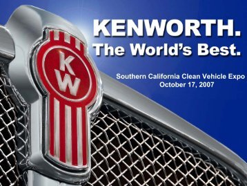 Southern California Clean Vehicle Expo October 17, 2007