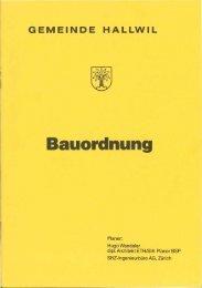 Bauordnung - Gemeinde Hallwil