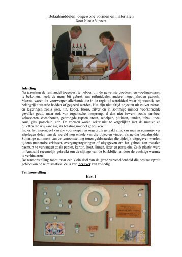 Betaalmiddelen: ongewone vormen en materialen - Numismatica ...