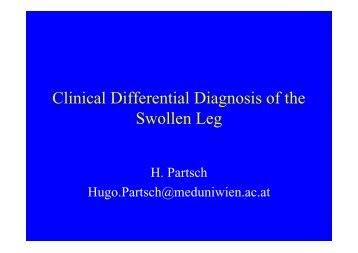 Swollen Limb - Conference Matters