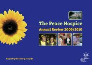 Annual Review 2009-10 (pdf) - Peace Hospice