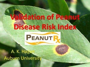 Validation of Peanut Disease Risk Index