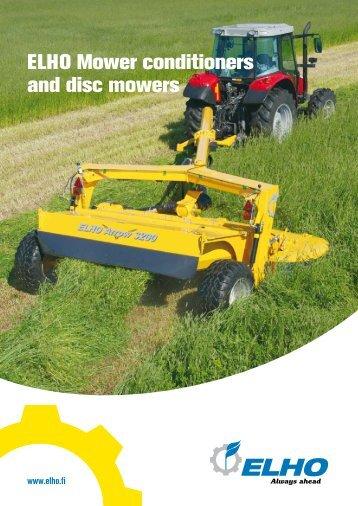 ELHO Mower conditioners and disc mowers - Hakmet