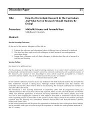 How Do We Include Research In The Curriculum And What ... - Seda