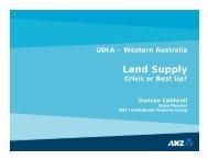 Duncan Caldwell - Urban Development Institute of Australia