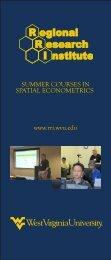 2012 Econometrics Rack Card - RRI - West Virginia University