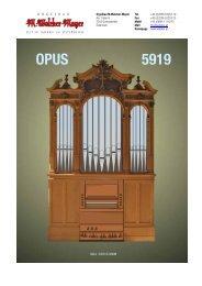 Angebot - Orgelbau Walcker-Mayer