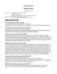Curriculum Vitae William R. Mark