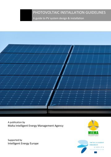 PHOTOVOLTAIC INSTALLATION GUIDELINES - A guide to ... - MIEMA