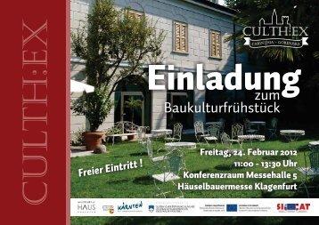 zum Baukulturfrühstück - Architektur Haus Kärnten