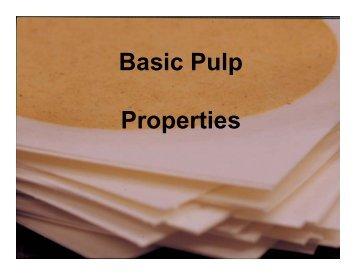 Pulp Properties
