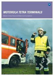 MOTOROLA TETRA TERMINALS - Motorola Solutions
