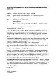 Ad-hoc notification pursuant to § 15 WpHG ... - Capital Raising GmbH