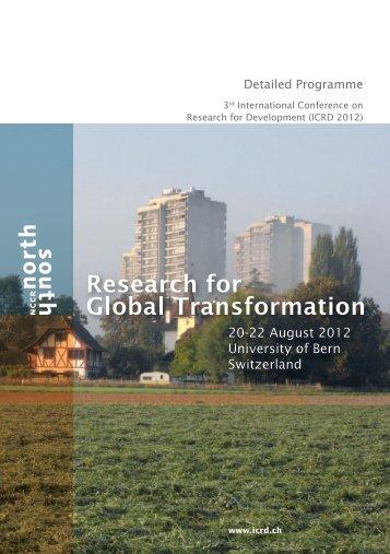 20-22 August 2012 University of Bern Switzerland - ICRD 2012 ...