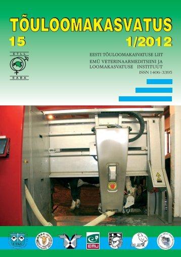 Eesti loomakasvatus 2011. aastal - Tõuloomakasvatus