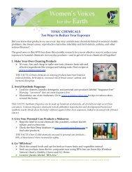 TOXIC CHEMICALS Ten Ways to Reduce Your Exposure - Women's ...