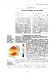 Research area 1 Superconductivity and superconductors